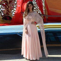 Fard à joues rose indien Kaftan arabe femmes robes de soirée avec Wrap ? partir de fabricateur