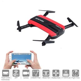 Wholesale Recording Connection - New arrival Phone Control JXD523 Tracker Foldable Mini Rc Selfie Drone with Wifi FPV 720P HD Camera Altitude Hold&Headless Mode OTH770