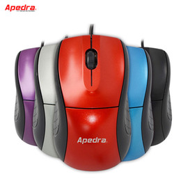 Wholesale Portable Computer Laptop - New Wired Computer Gamer Mouse Ergonomics Simple Portable LED Optical Mouse Mice for PC Laptop Notebook Home Office Accessories 5 Color M1