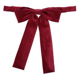 Moda e adorável estilo colegial simples cor sólida simples nylon bowtie flor multicolor de