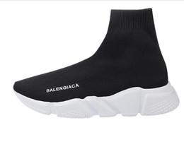 Wholesale Open Toe Socks Women - 2018 Big Size Speed Trainer Sock Men Women Casual Shoes Stretch-knit Mid 7.5 11.5 35 42 44 46