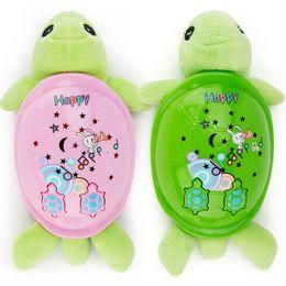 Wholesale Tortoise Dolls - New Cartoon Plush Tortoise Lovely Clever Little Turtle Toy Dolls With Music Lights Hobbys Birthday Gift For Kids