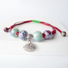 fazendo pulseiras contas de cerâmica Desconto Contas de cerâmica Hand-made Pulseira Boêmio Jóias Acessórios Presente Strand pulseiras # EY408