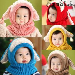 74b60182f48 Enfants en bas âge mignons garçons garçons hiver bonnet chaud bonnet chapeau  enfants bébé fille chapeaux bonnet à capuche écharpe Earflap tricoté  bonnets en ...
