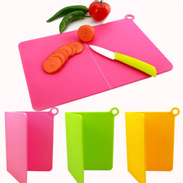 Wholesale Chopping Boards Wholesale - Folding Cutting Board Plastic Cutting Mat Kitchen For Vegetables Meat Fruits Chopping Blocks Food Slice Cut Kitchen Cooking Tool