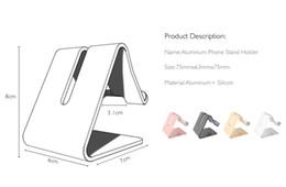 Tablero universal de aluminio, metal, teléfono celular, soporte para escritorio, soporte para iPhone, iPad, Samsung, iPad, teléfono inteligente y tabletas desde fabricantes