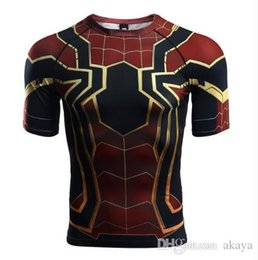 fbd3ac9b36c0 Raglan Sleeve Spiderman 3D Printed T shirts Men Compression Shirts 2018 Summer  NEW Cosplay Crossfit Tops For Male Fitness Cloth