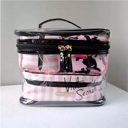 Belleza personalizada online-Vs set bolso del maquillaje Bolso cosmético de la belleza del eco de la venta al por mayor libre promocional del envío / contra bolso del maquillaje con insignia de encargo / bolso del maquillaje