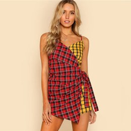 b346681ac5d9 Women Holiday Mini Playsuit Jumpsuit Plaid Sleeveless Rompers Summer Beach Casual  Shorts Summer Casual Women Clothes