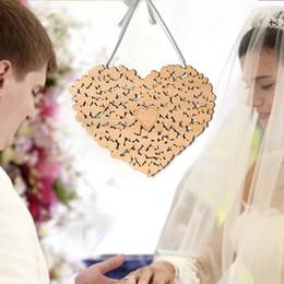 2019 impronta digitale della pittura di nozze Cuore appeso di nozze a forma di cuore di nozze alternativo cuore Decorazioni di nozze del libro degli ospiti di nozze