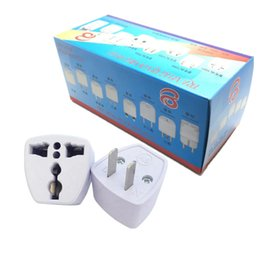 Wholesale power electrical - High Quality Travel Charger AC Electrical Power UK AU EU To US Plug Adapter Converter USA Universal Power Plug Adaptador Connector