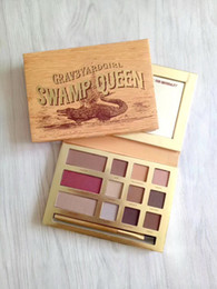 Wholesale Queen Wear - Hot new makeup Grav3yardgirl Swamp Queen 12 color eyeshadow palette   blush palette! DHL Free shipping