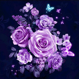 dipinti fenice Sconti Nuovo fiore fai da te pittura diamante 5d trapano completo fai da te ricamo kit croce mestiere decor spedizione gratuita