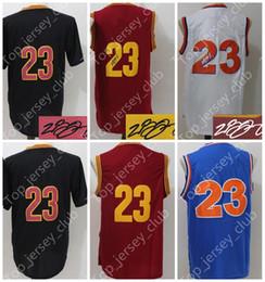 Wholesale Basketball Jersey Kids - 2017 Old CLE Basketball Jersey Men Women Youth,CAVS Signature Retro Kids,23 LBJ Black Blue Throwback