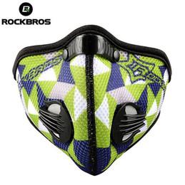 2019 filtros de ar para bicicleta Rockbros Formação Máscara Esporte Ciclo Motocross Bicicleta Ciclismo Máscara Facial Filtro de Poluição Do Ar Máscara de Poeira de Neoprene Mascaras Ciclismo filtros de ar para bicicleta barato