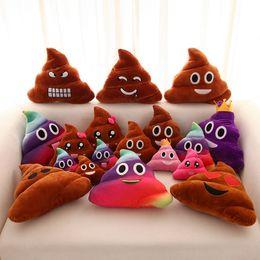 2019 giocattoli a maglia all'ingrosso Emoji peluche giocattoli 20-35cm Dung QQ Expression peluche cuscino giocattoli peluche giocattoli creativi aspetto divertente regalo di compleanno