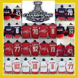 Wholesale Quick Stop - 2018 Stanley Cup Champions Capitals 8 Alex Ovechkin 43 Tom Wilson 77 T.J. Oshie 19 Nicklas Backstrom 70 Braden Holtby 92 Kuznetsov Jerseys