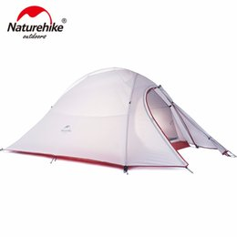 Wholesale Cycling Tent - Wholesale- Naturehike CloudUp 2 Person Ultralight 20D 210T Hiking Cycling Travel With Mat Mountaineering Beach Fishing Outdoor Camping Tent