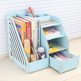 Wholesale Wooden Make Up - Stay Gold Wooden Storage Box Multifunctional Bookshelf Makeup Organizer Make Up Organizer Basket Car-styling