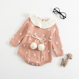 ab2eaaf8037c 2019 autumn and winter models newborn triangle romper fart clothing round  thickening lotus leaf collar knit baby piece jumper