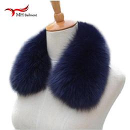 5cbe10958cef fox shrug Promotion Le renard véritable col de fourrure foulard femmes  châle Wraps Shrug Neck Warmer