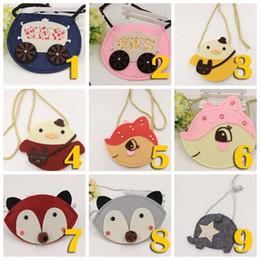 Wholesale fox messenger bags - cute Toddler Girls Babies kids Cartoon bags Korean Style Creative fox shoulder Messenger bag mini coin purse