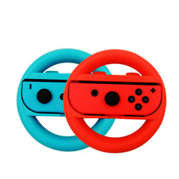 Paquete de cambio online-2018 A estrenar Game Acessories 2 Pack SWITCH Joy-Con Handle Soporte del volante para Nintendo envío gratis
