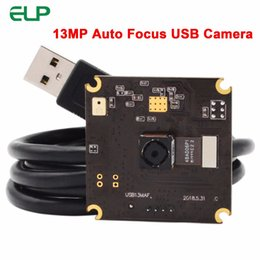 Enfoque automático de la cámara online-13 MP SONY IMX214 3840 * 2880 4K USB Camera Module MJPEG YUYV Autofocus UVC USB Camera Board para Android Linux Windows MAC OS