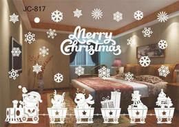 2019 finestre in vinile Hot Home Festive Christmas Snowman Rimovibile Home Vinyl Window Wall Stickers Decal Decor Natale trasparente finestra Wallpaper Shop finestre in vinile economici