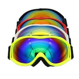 9b3edb3f282 Ski gear two layers UV400 anti fog goggles full frame windproof adult snow  goggles myopia glasses allowed