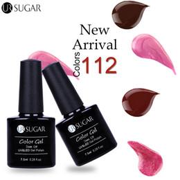 UR SUGAR 1 Bouteille 7.5ml Soak Off UV Gel Poli Série Sombre Pure Color Nail Art Gel Vernis à ongles Manucure Manucure ? partir de fabricateur