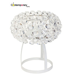 transparent table lamps Promo Codes - Transparent gold yellow Replicas Table Lamp Acrylic ball Table Light for Desk Lamp Modern Simple Style Study Loft bedroom