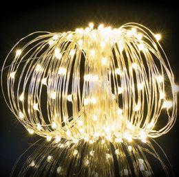 2019 светильники Aillison 1.2 m 200 огни Рождество LED Солнечный медный провод лампы украшения партии лампа медь лампы открытый атмосфера фестиваль поставки скидка светильники