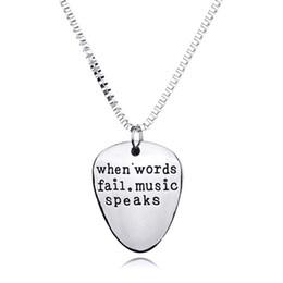 подвески для мужчин Скидка Мужчины Женщины, Когда Слова Терпят Неудачу Музыка Говорит Гитара Выбрать Кулон Ожерелье Ювелирные Изделия