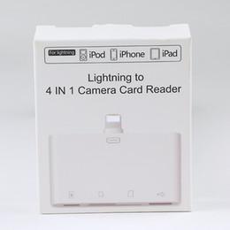 Porta della scheda sd online-Ligitning To 4 in 1 Adattatore per lettore di schede per fotocamera Micro USB TF SD Porta USB per computer Convertitore per scheda di memoria per iPhone iPod