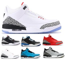 Wholesale Mens White Patent Leather Shoes - Hot 3 Basketball Shoes Cement Blue NRG OG 88 Money Grateful Free Throw Line 3s Sport Tennis Trainer Mens Man Woman Athletic Sneakers