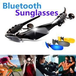 Wholesale Palms Sun - Sun Glasses Bluetooth Headset Sports Sunglasses Stereo Bluetooth Headphone Wireless Handsfree for Samsung Galaxy S7 S8 HTC Smartphones
