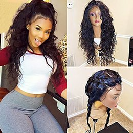 Wholesale Water Wave Human Lace Wig - Whloesale Cheap Virgin Hair Water Wave Full Lace Wigs with Baby Hair Brazilian Glueless Lace Front Human Hair Lace Wigs for Black Women