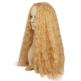 Wholesale Blonde Lolita - Hot&New Gothic Lolita Wig Natural Looking Heat Resistant Synthetic Fiber Harajuku Long Blonde Curly Cosplay Wigs