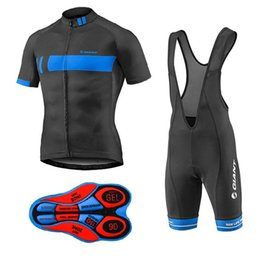 Wholesale Cycling Team Jerseys China - cycling jersey pro team Men's GIANT summer Short sleeve shorts sets Sport cheap-clothes-china fietskleding wielrennen zomer heren set
