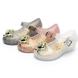 Wholesale Wholesale Dance Sandals - New Jelly Shoes Crystal Girl's Sandals Princess Cosplay Children's Shoes For Stage Dancing Show Kids High Quality Shoes