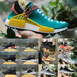Wholesale r1 race - New Original 2018 pharrell williams nmd human race men women running shoes black white nmds primeknit PK runner XR1 R1 R2 Casual Sneakers