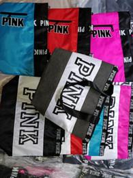 Wholesale red duffle bags - Pink Letter Handbags Women girls youth Shoulder Bags love Pink waterproof girls shopping bag handbag secret Travel Duffle Bags Beach Bag