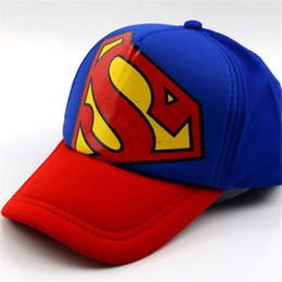 Nuova Europa e America Superman Batman Cap Bambini Hat Summer Ragazzi e ragazze Sun Hat Fashion hip hop per bambini cheap girls superman hat da cappello superman delle ragazze fornitori