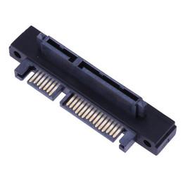 2019 кабель ethernet 5ft Высокое качество черный 90 градусов угол SATA 22Pin (7+15) мужчин и женщин расширитель адаптер 22pin подключи и играй портативный SATA расширитель