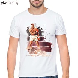 Wholesale mma t shorts - muhammad ali T-shirt 2016 Summer Mens MUHAMMAD ALI T Shirts Men Fitness Casual clothing MMA Cotton Tee T shirt Homme Tops & Tees