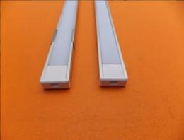 Led-schienenleuchten online-Versandkostenfrei fabrik produktion flach schlank led streifen licht aluminium strangpressprofil kanal mit abdeckung und endkappen
