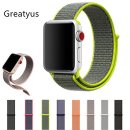Wholesale Adjustable Buckle Straps - Nylon loop Strap for Apple Watch Band 38mm 42mm Magnetic buckle Adjustable Sports Strap Band for iwatch series 1 2 3 pulsera