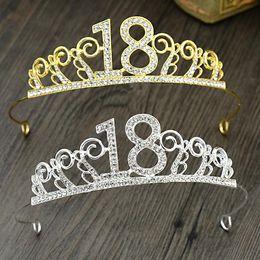 Wholesale Dekorative Krone Legierung Diamant für immer Jahre alt Zoll Zoll Zoll Kopfschmuck Geburtstag Haarschmuck