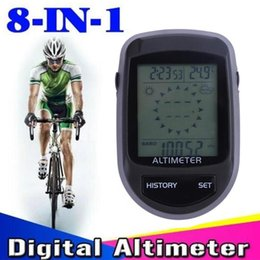Wholesale Weather Barometers - Digital 8 in 1 LCD Electronic Compass Altimeter Barometer Thermometer Weather Forecast Time Thermo Temperature Clock Calendar